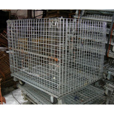 "40"" x 48"" x 36"" Collapsible Wire Basket w/casters"
