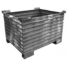 """36"""" x 46"""" x 27"""" Corrugated Steel Container"""