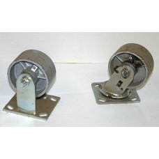 "2"" x 4"" steel  casters, set of 4"
