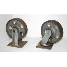 "2"" x 7"" Steel Casters, set of 4"