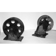 "3"" x 8-10"" Steel Casters, set of 4"