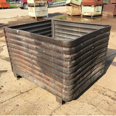 """40"""" x 48"""" x 30"""" Corrugated Flomatic Steel Container"""