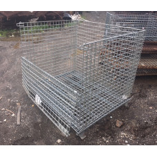 """40"""" x 48"""" x 36"""" Collapsible Wire Basket"""
