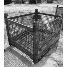 """42"""" x 53"""" x 28"""" Rigid Wire Basket with Runners"""