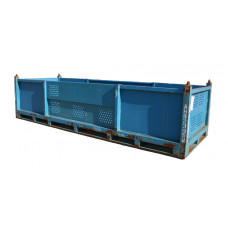 "48"" x 140"" x 25"" Straight Wall Steel Container"