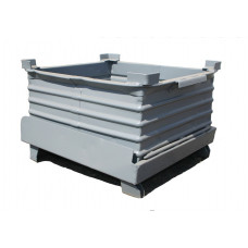 "33"" x 36"" x 18"" Drop Bottom Steel Container"
